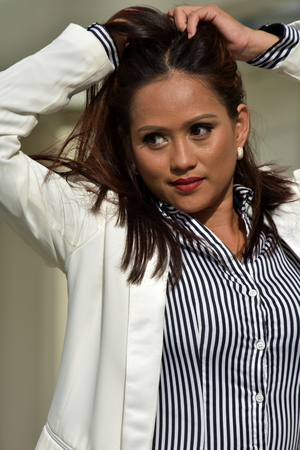 Filipina Business Woman Under Stress