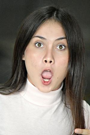 Anxious Female Woman Stock Photo