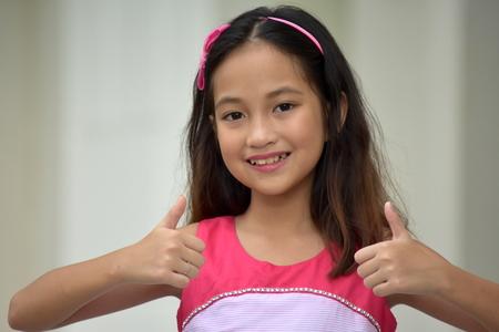 Happy Pretty Filipina Person