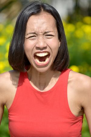 Female And Anger Banco de Imagens