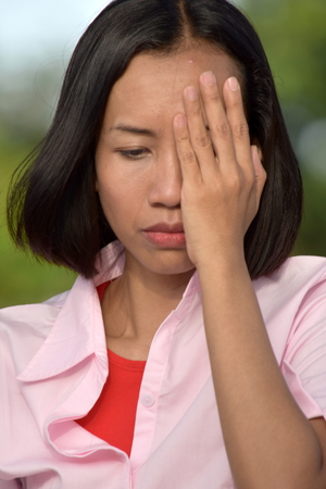 Ashamed Asian Person Stock Photo - 111262785