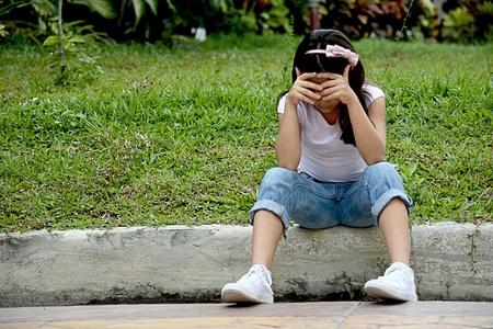 Unhappy Girl Preteen