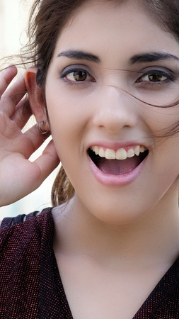 Smiling Latina Female