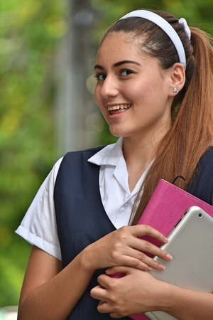 Girl Student And Happiness