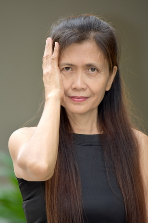 Startled Female Senior Grandmother