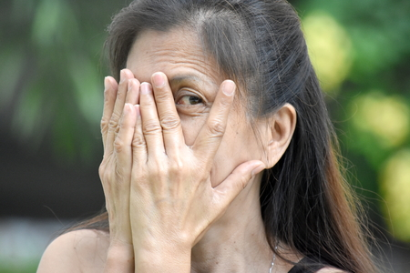 Fearful Older Minority Person