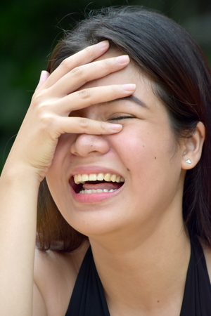 Asian Female And Laughter Stock Photo