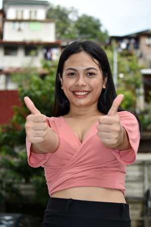 Proud Youthful Filipina Person