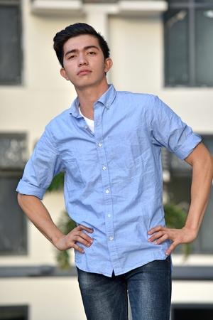 Confident Asian Male Person