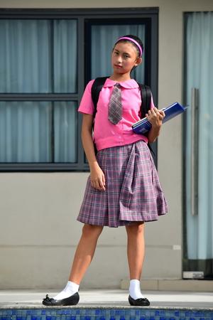 Smart Cute Asian Person Standing Stock fotó
