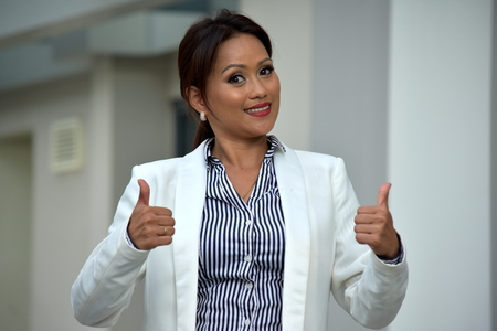 Successful Intelligent Asian Person