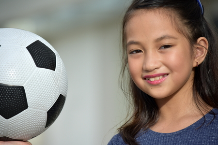 Athlete Female Soccer Player Smiling