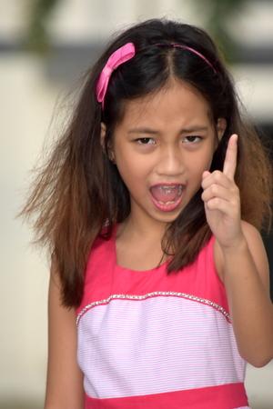 Upset Cute Filipina Teenage Female