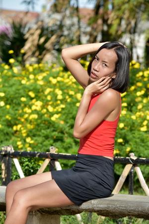 Youthful Asian Female And Soreness
