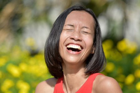 Pretty Minority Female And Laughter Stock Photo