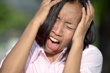 Minority Female Under Stress 写真素材