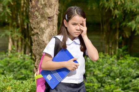 Shy Girl Student