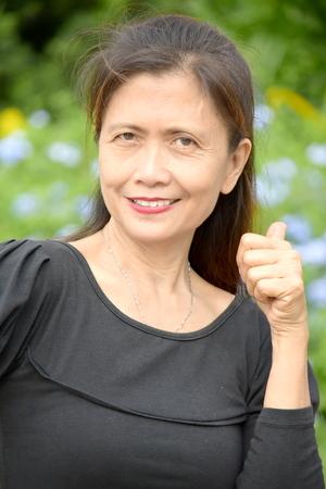 Portrait Of An Older Diverse Female Senior