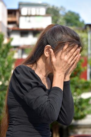 Shameful Female Senior Gramma Stock fotó