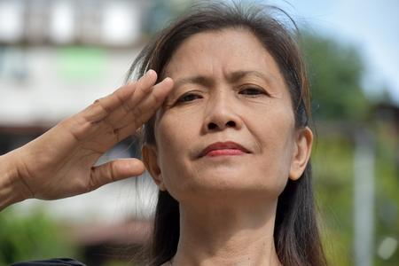 Saluting Minority Female Senior