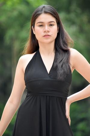 Posing Pretty Filipina Female 免版税图像