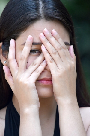 Fearful Filipina Female Woman