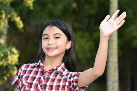 Friendly Young Filipina Person Stock Photo