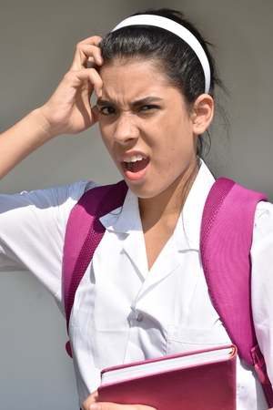 Anxious Female Student