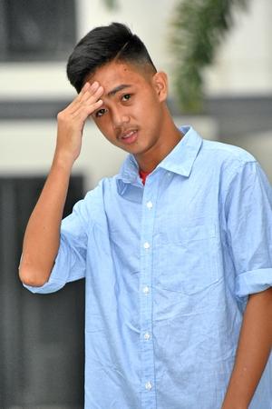 Posing Asian Person