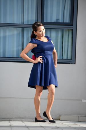 Happy Pretty Minority Female Woman Wearing Skirt