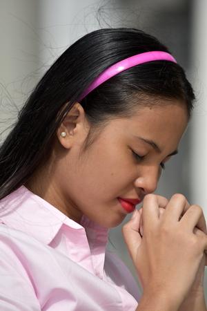 Teen Girl Praying
