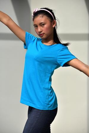 Dancing Minority Female Stock fotó - 114519696