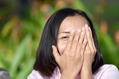 Fearful Diverse Woman