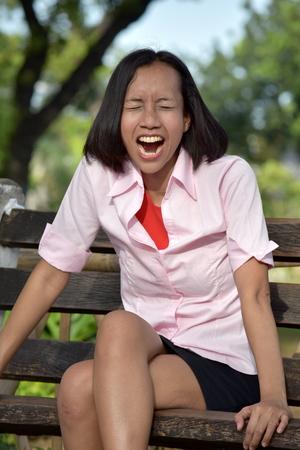 Anxious Asian Female Woman