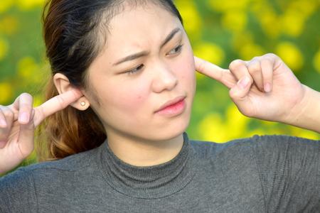 Silent Youthful Asian Female