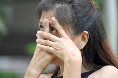 Fearful Old Filipina Person