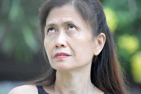 Apathetic Female Senior Gramma