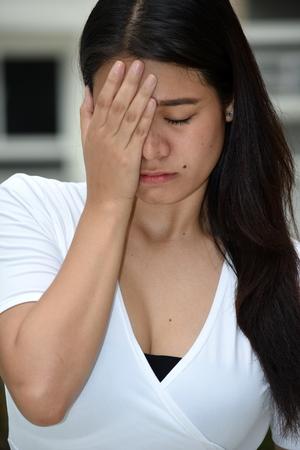 Shameful Asian Female Stock Photo