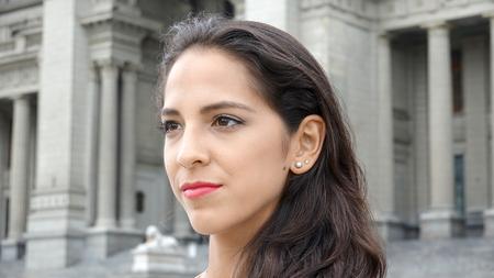 A Serious Female Stockfoto