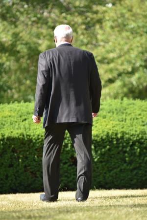 Failed Adult Senior Investor Walking