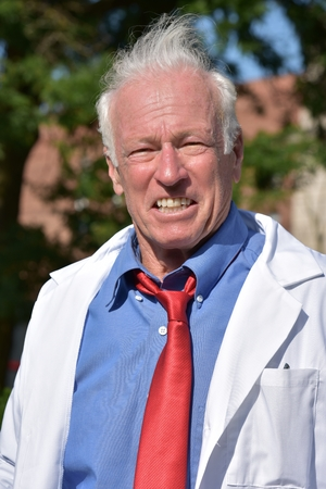 Funny Smiling Crazy Science Professor