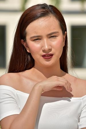 Filipina Adult Female Portrait 免版税图像