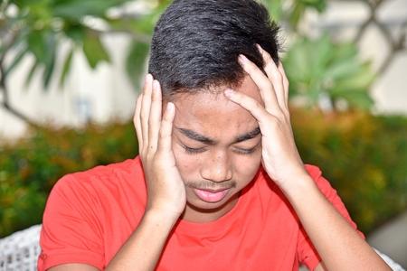 Anxious Teenager Boy