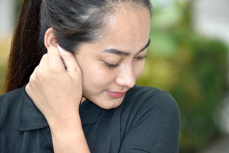 Beautiful Minority Female Alone