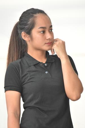 Minority Female Posing