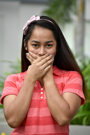 Ashamed Beautiful Filipina Girl