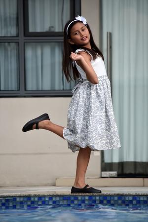 Dancing Petite Female Standing Stock fotó