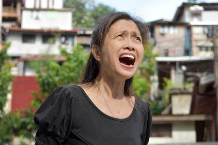 Senior Minority Grandmother Shouting Banque d'images - 115117245