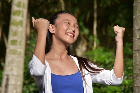Proud Pretty Asian Person
