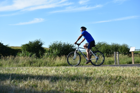 Male Cyclist Working Out Exercising
